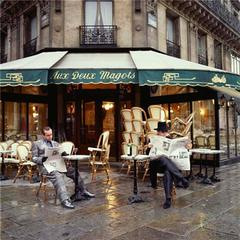 Elton John at Aux Deux Magots