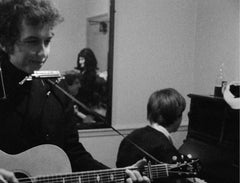 Bob Dylan backstage at Newcastle City Hall with Alan Price London 1965