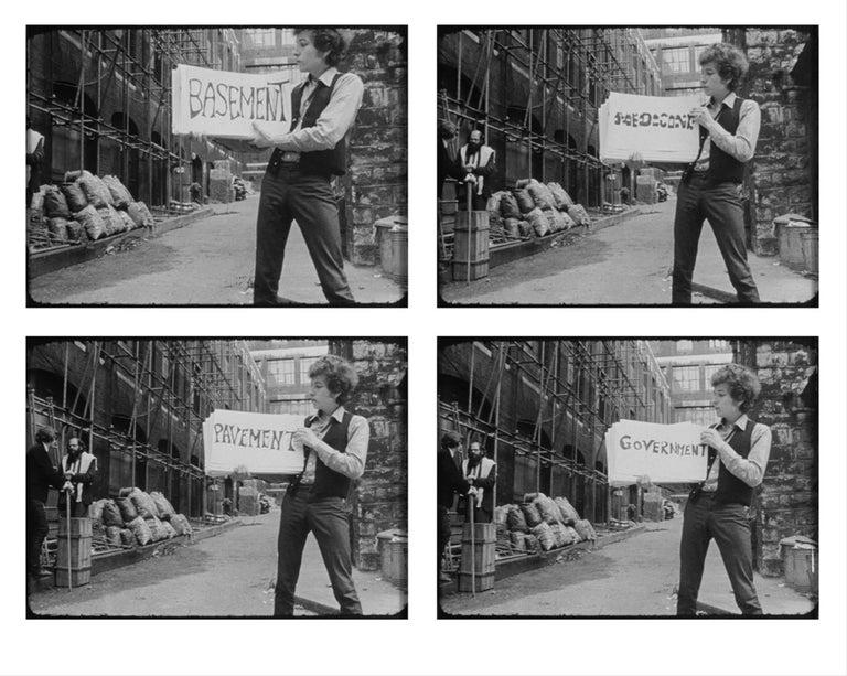 Bob Dylan in cue card scene from DONT LOOK BACK (quadtych) - Mixed Media Art by D.A. Pennebaker