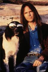 Neil Young with Art the Dog