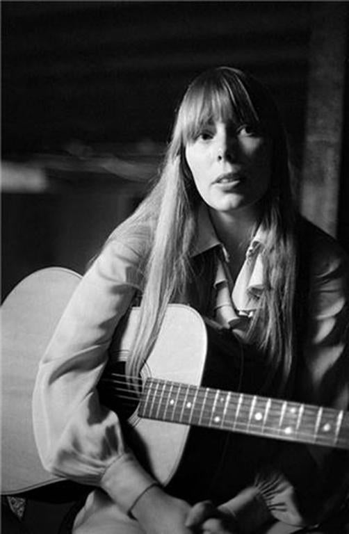 Joel Bernstein Black and White Photograph - Joni Mitchell, 1968