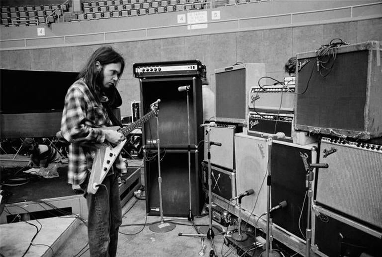 Joel Bernstein Black and White Photograph - Neil Young, St. Peterburg, FL 1973