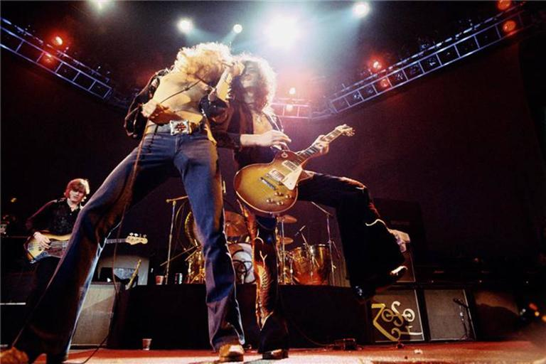 Neal Preston Color Photograph - Led Zeppelin, Los Angeles, CA 1975
