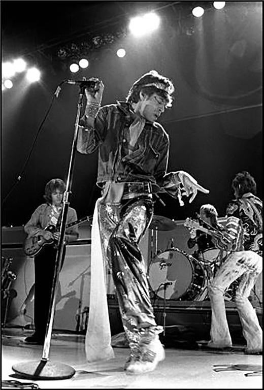 Neal Preston Black and White Photograph - Mick Jagger, Los Angeles, CA 1973