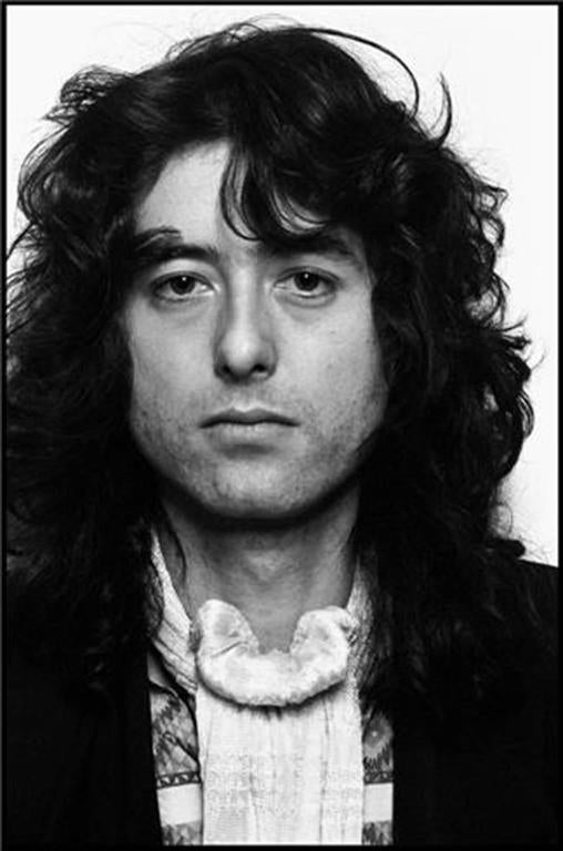 Neal Preston Black and White Photograph - Jimmy Page 1977
