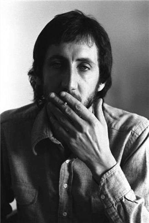 Neal Preston Black and White Photograph - Pete Townshend, Los Angeles, CA 1973