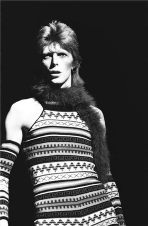 Neal Preston Black and White Photograph - David Bowie, New York, NY 1973