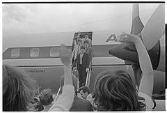 Beatles Coming off Plane