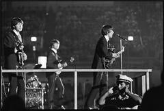 The Beatles on Stage with Cops