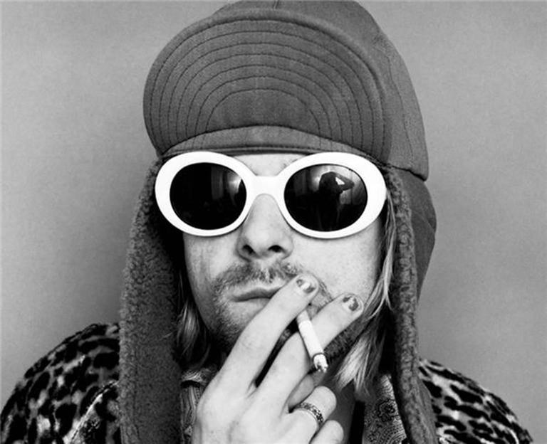 Jesse Frohman Black and White Photograph - Kurt Cobain; Smoking C, Ver. 2