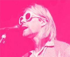 "Kurt Cobain; ""Singing, Pink"""