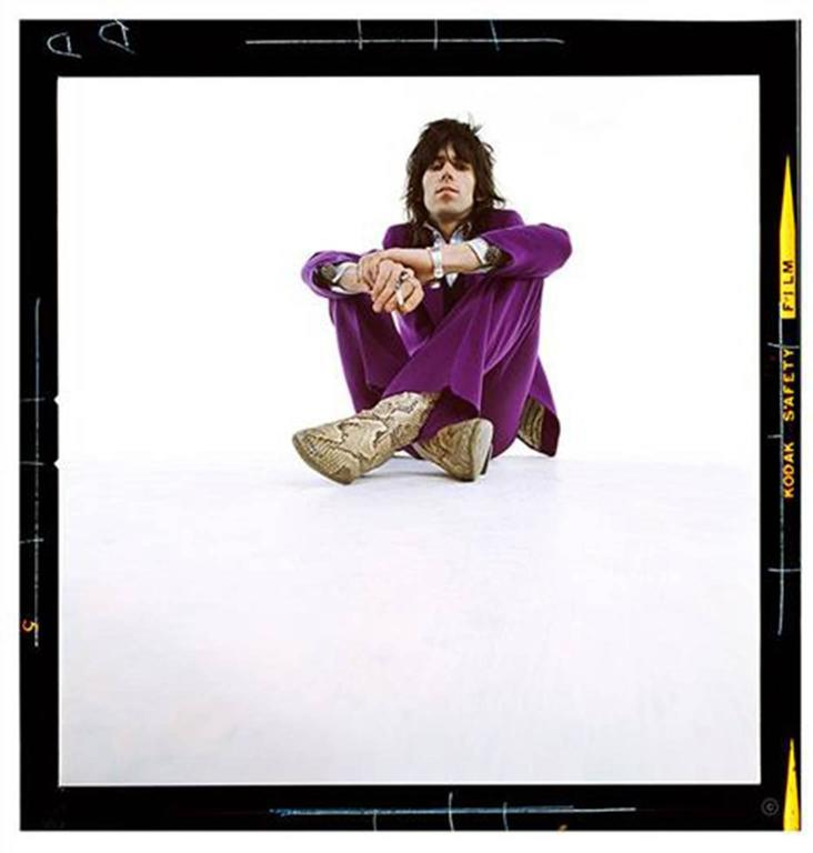 Keith Richards in Purple Suit