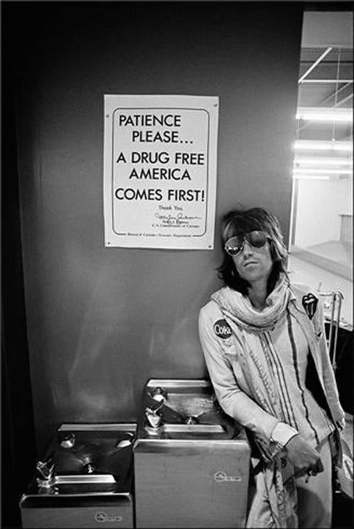 """Ethan Russell - Keith Richards, """"Patience Please"""", 1972 U.S. Tour 1"""