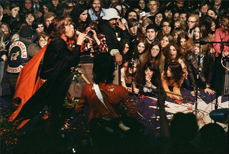Ethan Russell Color Photograph - Mick Jagger, Altamont, CA 1969