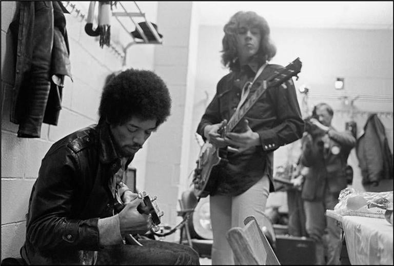 Ethan Russell - Jimi Hendrix and Mick Taylor, New York, NY 1969 1