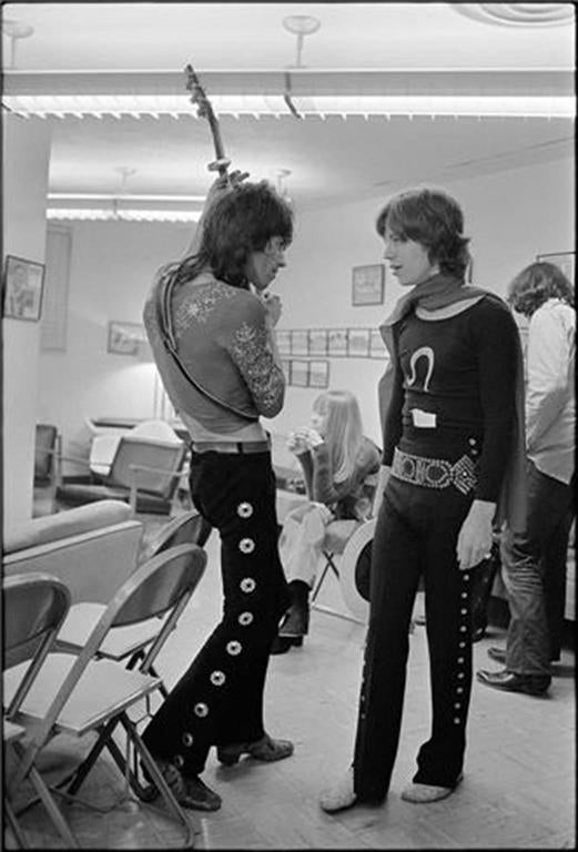 Mick Jagger and Keith Richards Backstage, 1969