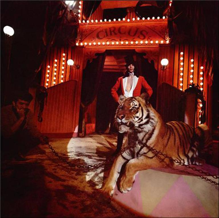 """Ethan Russell Color Photograph - Mick Jagger, """"Ringmaster"""", 1968"""