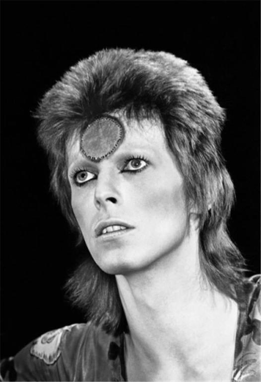 Mick Rock Black and White Photograph - David Bowie Portrait