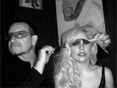 Bono and Lady Gaga, 2009
