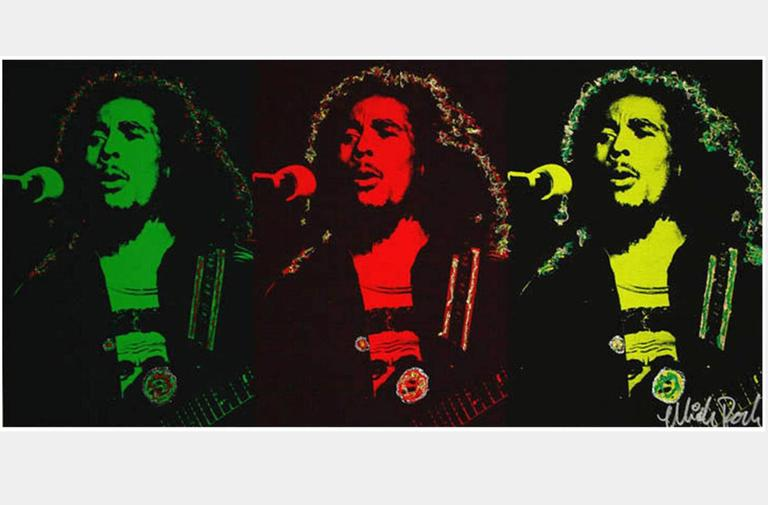 Mick Rock Abstract Painting - Bob Marley Triptych