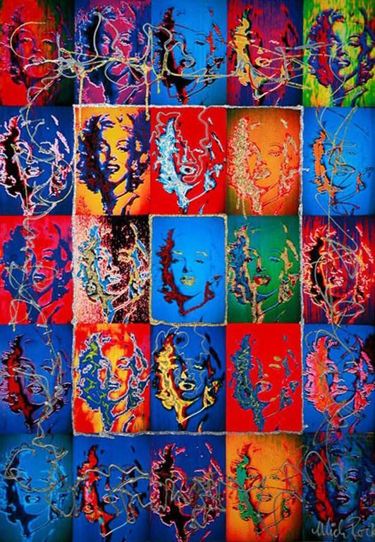 Mick Rock Portrait Painting - Marilyn Monroe X 25