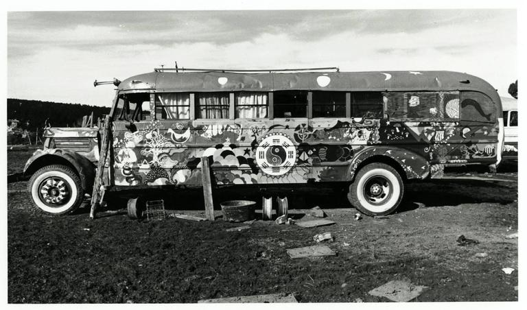 Hog Farm Bus, Llano, NM 1972