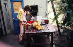 John and Ceci Sebastian, Waterbaby Dye Works, The Farm, Los Angeles, CA 1969