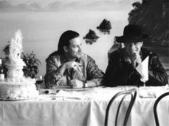 U2, Bono & Larry Mullen Jr, Rome, Italy, 1989