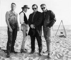 U2 on Ostia beach, Rome
