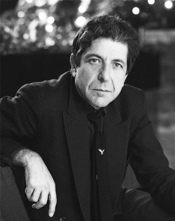 Colm Henry Black and White Photograph - Leonard Cohen In Dublin City, 1985
