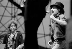 Bono and Bob Dylan in Concert, 1985