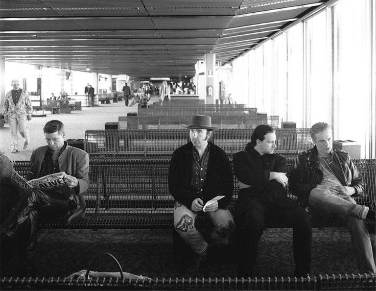 U2 waiting at Rome Airport in 1989