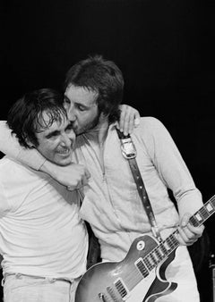 Pete Townshend Kissing Keith Moon, 1974