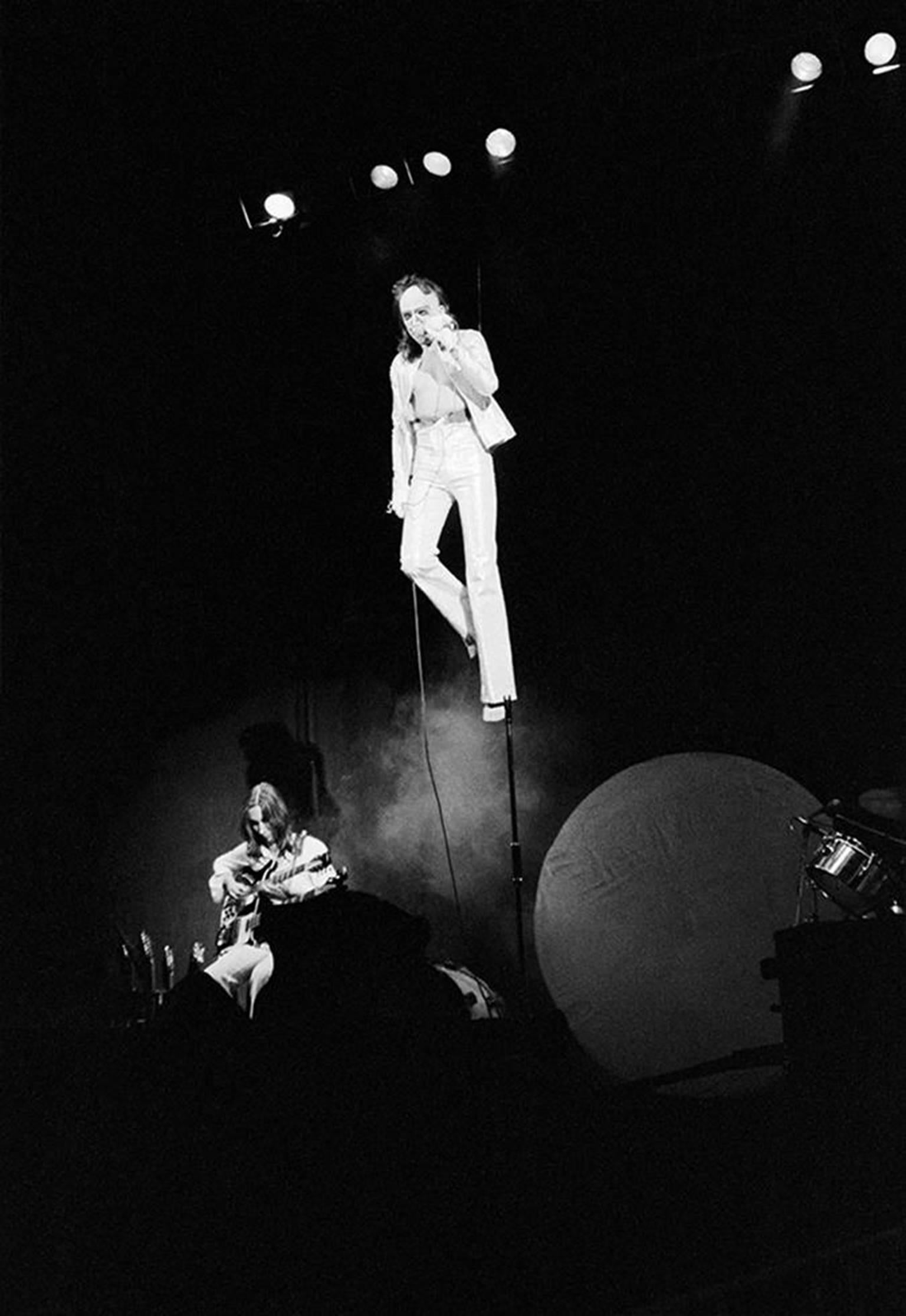 Peter Gabriel with Genesis at Philharmonic Hall in NYC, 1974