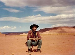 "John Wayne, during the filming of ""The Searchers,"" Monument Valley, Arizona-Utah"