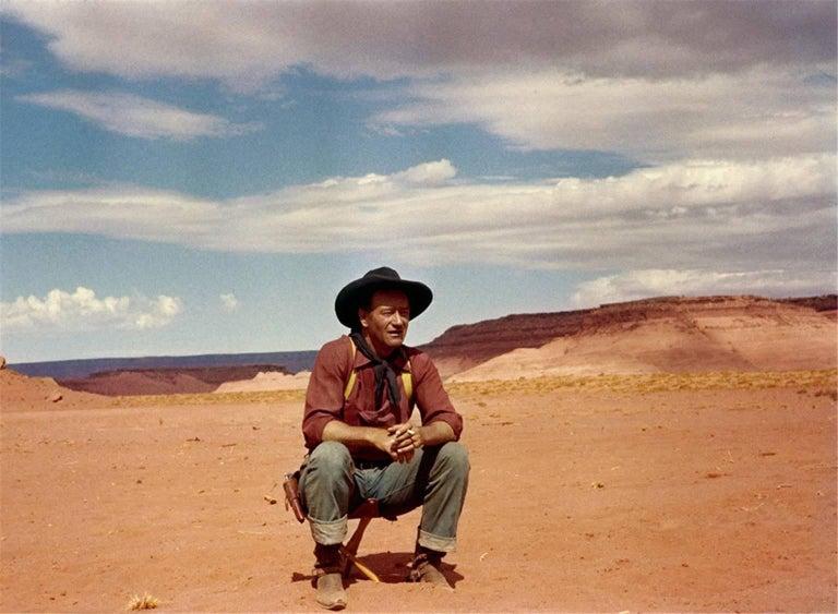 "John Wayne, during the filming of ""The Searchers,"" Monument Valley, Arizona-Utah"