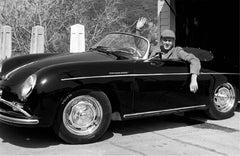 Steve McQueen in his Porsche, Los Angeles, California, 1960