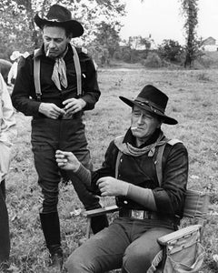 """John Wayne and William Holden, """"The Horse Soldiers,"""" 1959"""