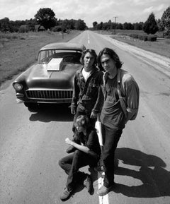 """James Taylor, Dennis Wilson and Laurie Bird, """"Two-Lane Blacktop,"""" 1971"""