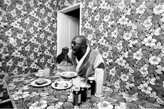 John R. Hamilton - Isaac Hayes, breakfast nook at home, Los Angeles, California, 1971