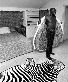 Isaac Hayes, at home, Los Angeles, 1971
