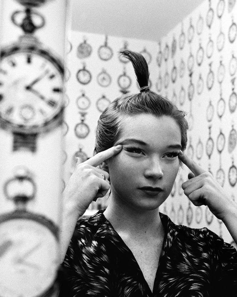 John R. Hamilton Black and White Photograph - Shirley Maclaine's Mirror Madness, Los Angeles, 1960