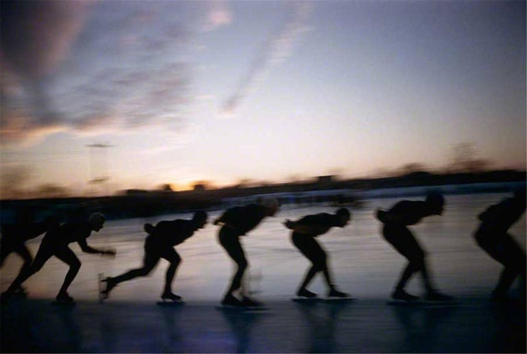 Art Shay Abstract Photograph - Speed Skaters 1956