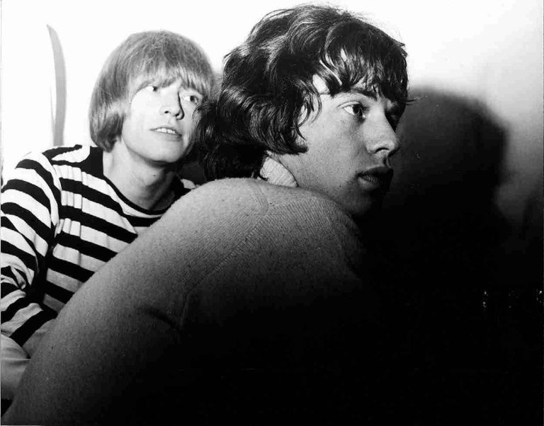 Brian Jones and Mick Jagger, Stockton on Tees, England 1965