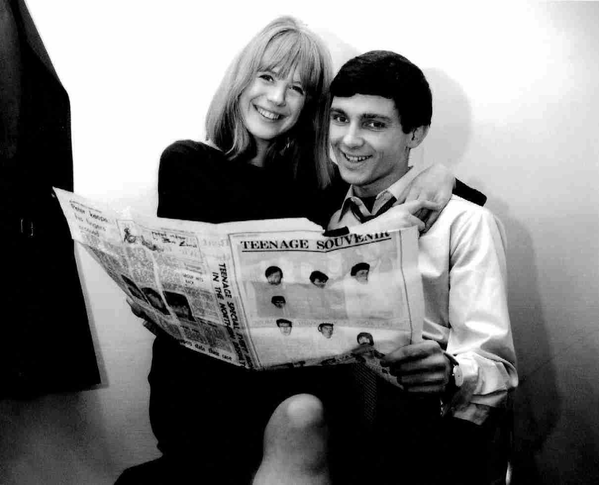 Gene Pitney and Marianne Faithfull, Stockton on Tees, England 1964