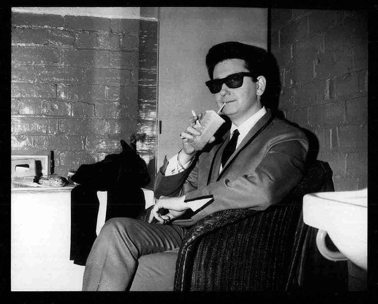 Ian Wright Black and White Photograph - Roy Orbison, Stockton on Tees, England 1964