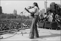 Joan Baez, War is Over Rally, Central Park, NYC, 1975