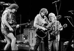 Bob Weir, Bob Dylan, and Jerry Garcia, Oakland Stadium, CA, 1987