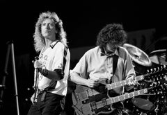 Robert Plant and Jimmy Page, Led Zeppelin, NYC, 1988
