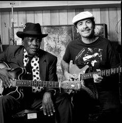 John Lee Hooker and Carlos Santana, Sausalito, CA, 1991